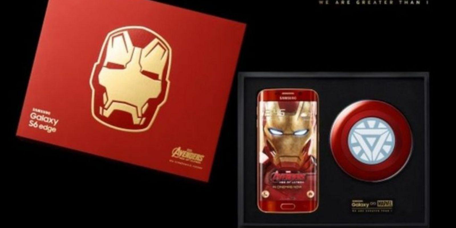"""El smartphone edición de """"Iron Man"""" fue lanzado de forma oficial en mayo pasado. Foto:Samsung"""