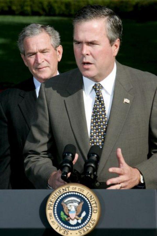 Jeb Bush y su hermano George W. Bush Foto:Getty Images