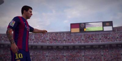 Lionel Messi en el Camp Nou. Foto:EA Sports