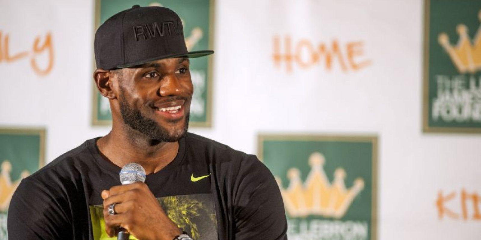 """""""The King"""" sorprendió con su autoconfianza al asegurar que Cavaliers podía remontar la serie final de la NBA ante los Warriors """"porque él es el mejor jugador del mundo"""". Foto:Getty Images"""