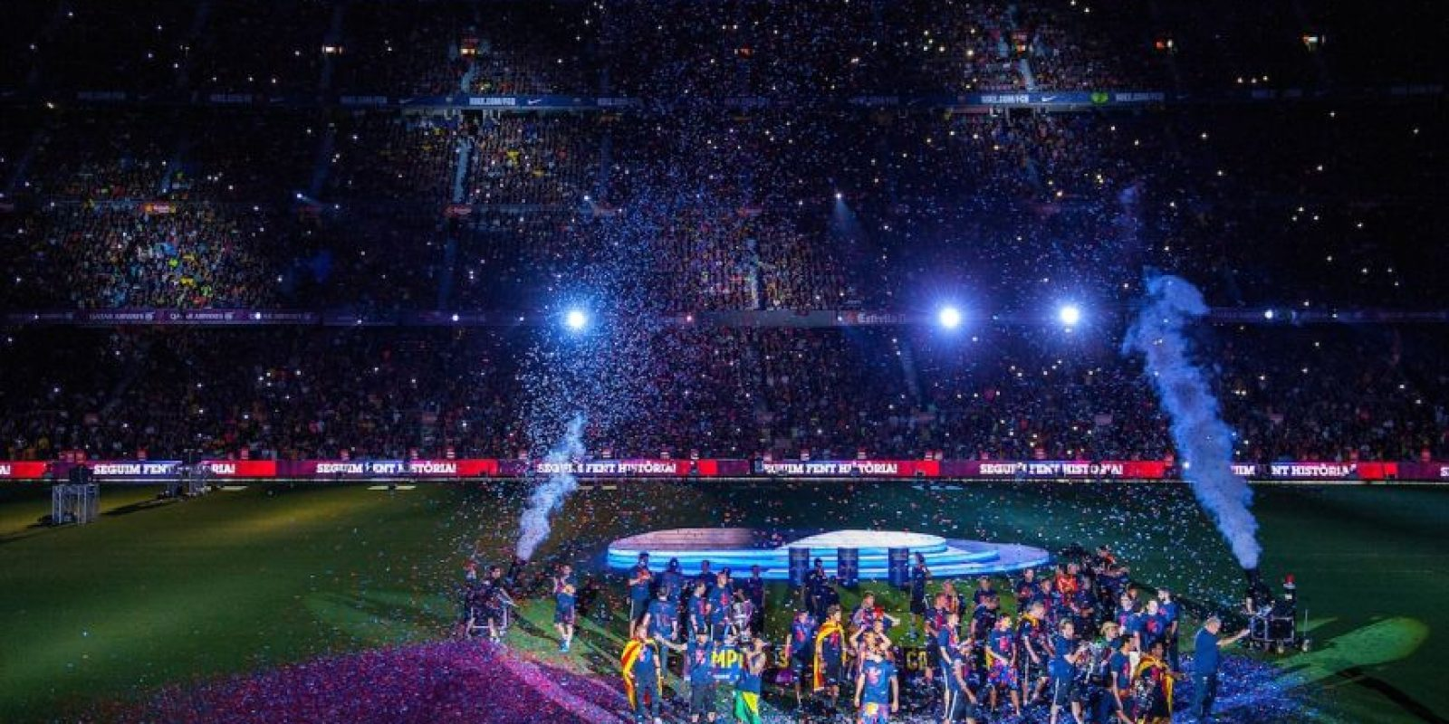 No es para menos: los catalanes ganaron tres títulos esta temporada. Foto:Getty Images
