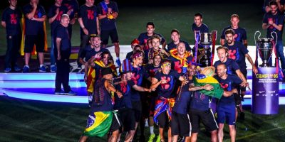 """Los """"Merengues"""" se quedaron sin títulos y tuvieron que ver a su mayor rival levantar tres trofeos. Foto:Getty Images"""