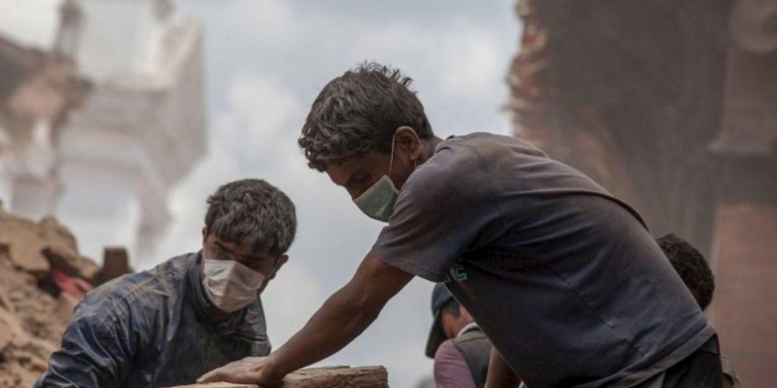El primer terremoto que azotó a Nepal fue de 7.8 grados en escala Richter. Foto:Getty Images