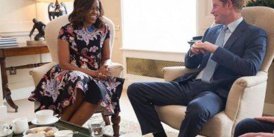 FOTOS: Así fue el encuentro de Michelle Obama y el príncipe Harry