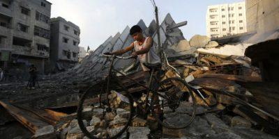 Después de 50 días de bombardeos, así quedó la Franja de Gaza Foto:AFP