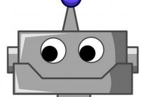 Rostro de robot. Foto:emojipedia.org
