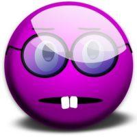 Cara de nerd. Foto:emojipedia.org