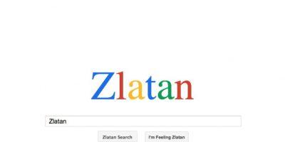 Se trata de zlaaatan.com, donde cualquier búsqueda siempre estará relacionada con el crack del PSG. Foto:zlaatan.com