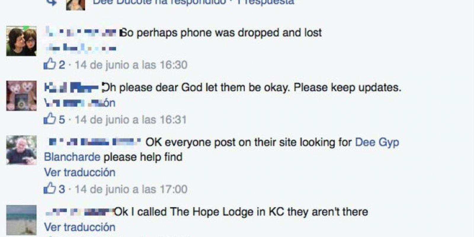 Algunos de sus amigos mostraron su preocupación mientras llegaba la policía. Foto:Vía Facebook