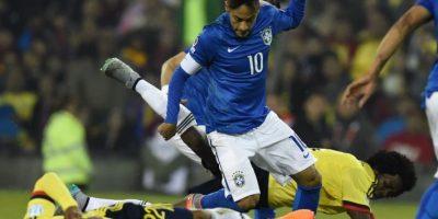 Hubo una gresca al final del partido Foto:AFP