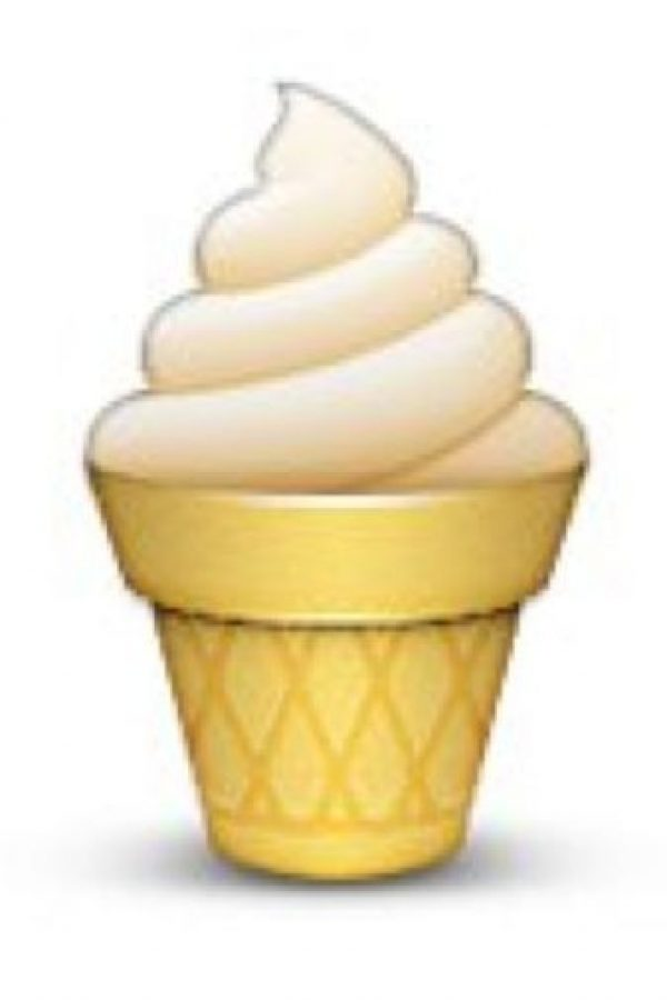 Cono con helado. Foto:emojipedia.org