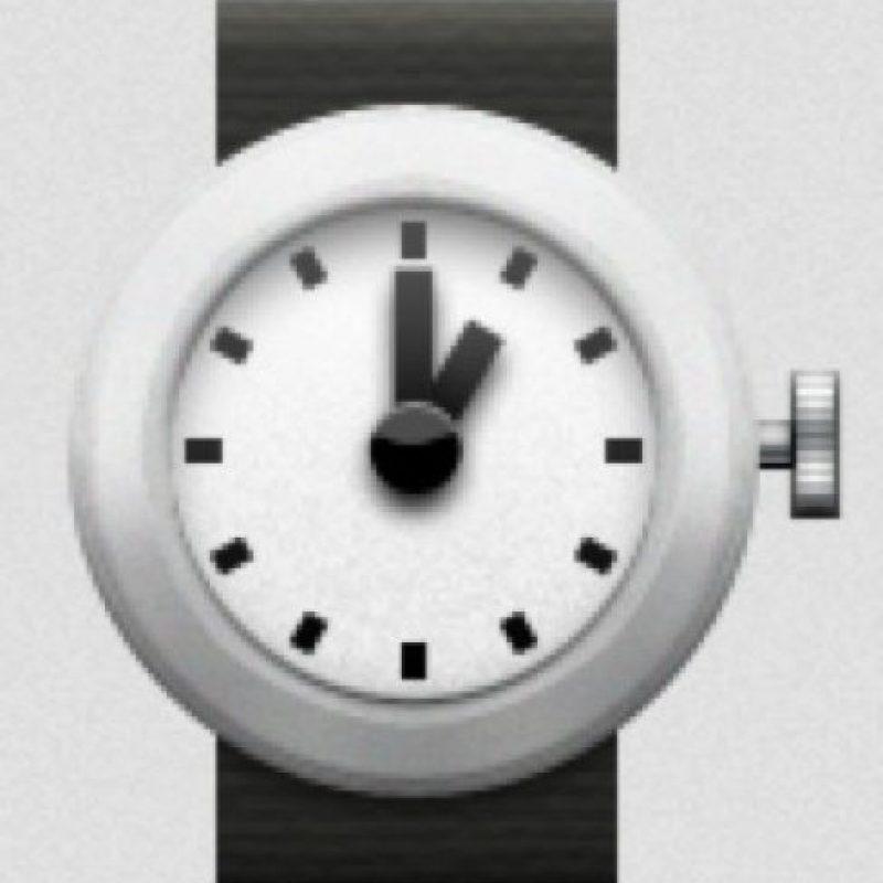Reloj de pulso. Foto:emojipedia.org
