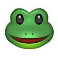 Rostro de rana. Foto:emojipedia.org