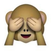 Mono con los ojos tapados. Foto:emojipedia.org