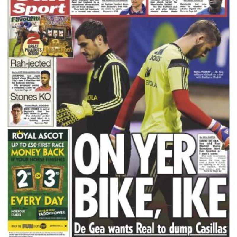 """Según el diario británico """"The Sun"""", David de Gea habría puesto una condición para fichar por el Real Madrid. Foto:thesun.com"""