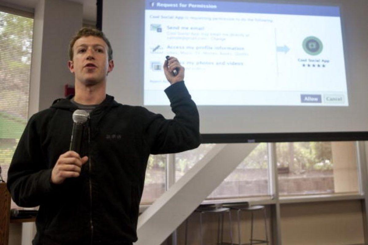 """""""Cuando lanzamos (el servicio) esperábamos tal 400 o 500 personas… así que quién sabe a dónde vamos en la actualidad. Tal vez podamos hacer algo interesante"""", señalaba aquel modesto Zuckerberg con 19 años de edad. Foto:Getty Images"""