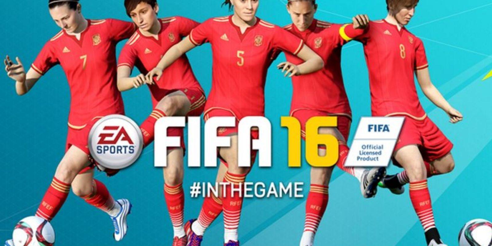Por primera vez en su historia, FIFA 16 permite jugar con Selecciones femeninas, aunque no hay modalidad de hombres contra mujeres. Foto:EA Sports