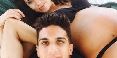 Marc Bartra presume el embarazo de Melissa Jiménez Foto:Via twitter.com/marcbartra