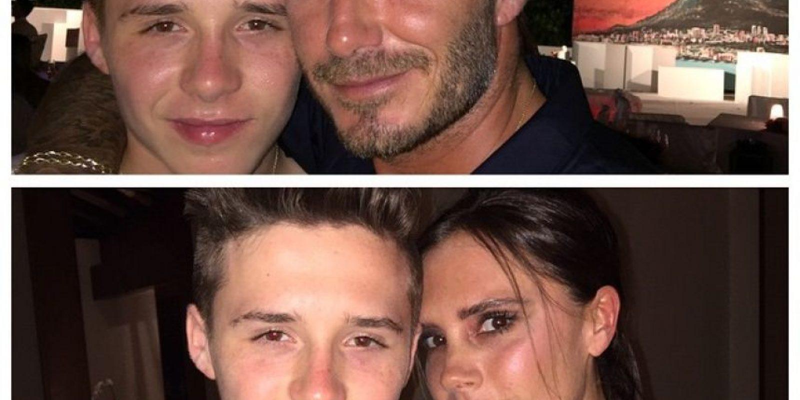Con Victoria Beckham tiene cuatro hijos: Brooklyn, Romeo, Cruz y la pequeña Seven Harper. Foto:Via instagram.com/brooklynbeckham