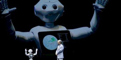 Pepper, el robot, fue presentado en Japón para su venta al público en general Foto:AP