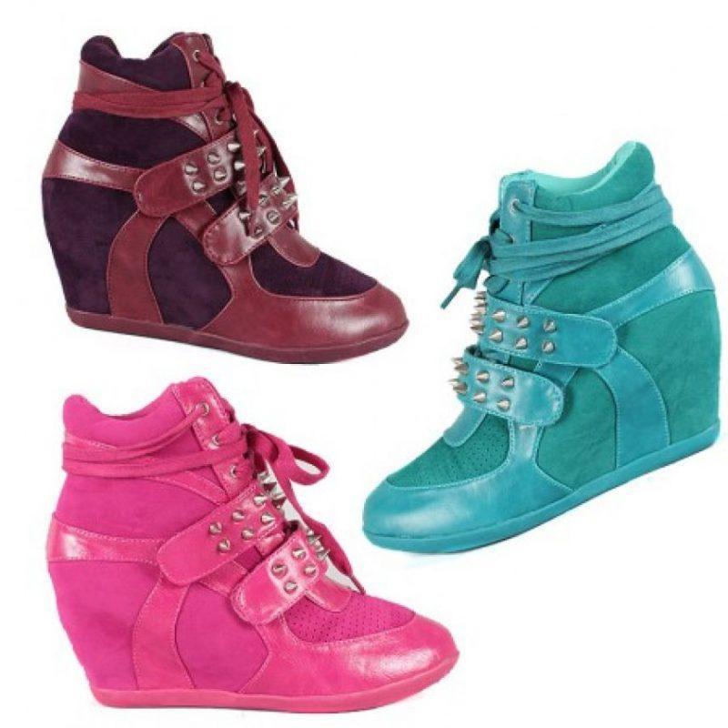 """7. Y hace tres años se impusieron estos. Los sneaker wedges. También de uso común, pero muchos adoradores de lo """"elegante"""" los odian. Foto:vía eBay"""