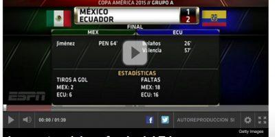 """Para ESPN, el """"Tri"""" """"naufragó"""" en la Copa América Foto:ESPN"""