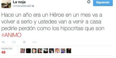 """Estos fueron los tuits de la hija del """"Piojo""""Herrera Foto:Vía twitter.com/mishelleha00"""