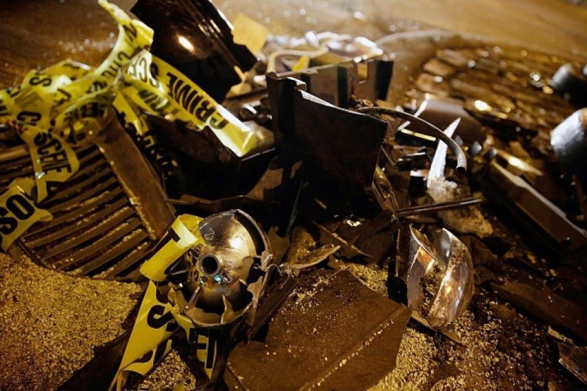 Su auto dio varias volteretas antes de chocar. Los perseguidos resultaron ilesos. Foto:vía Getty Images (Archivo)