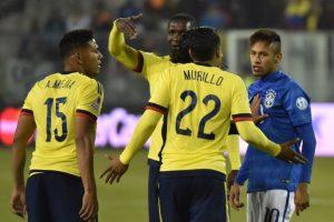 Una gresca al final del partido ocasionó que Neymar fuera expulsado Foto:AFP