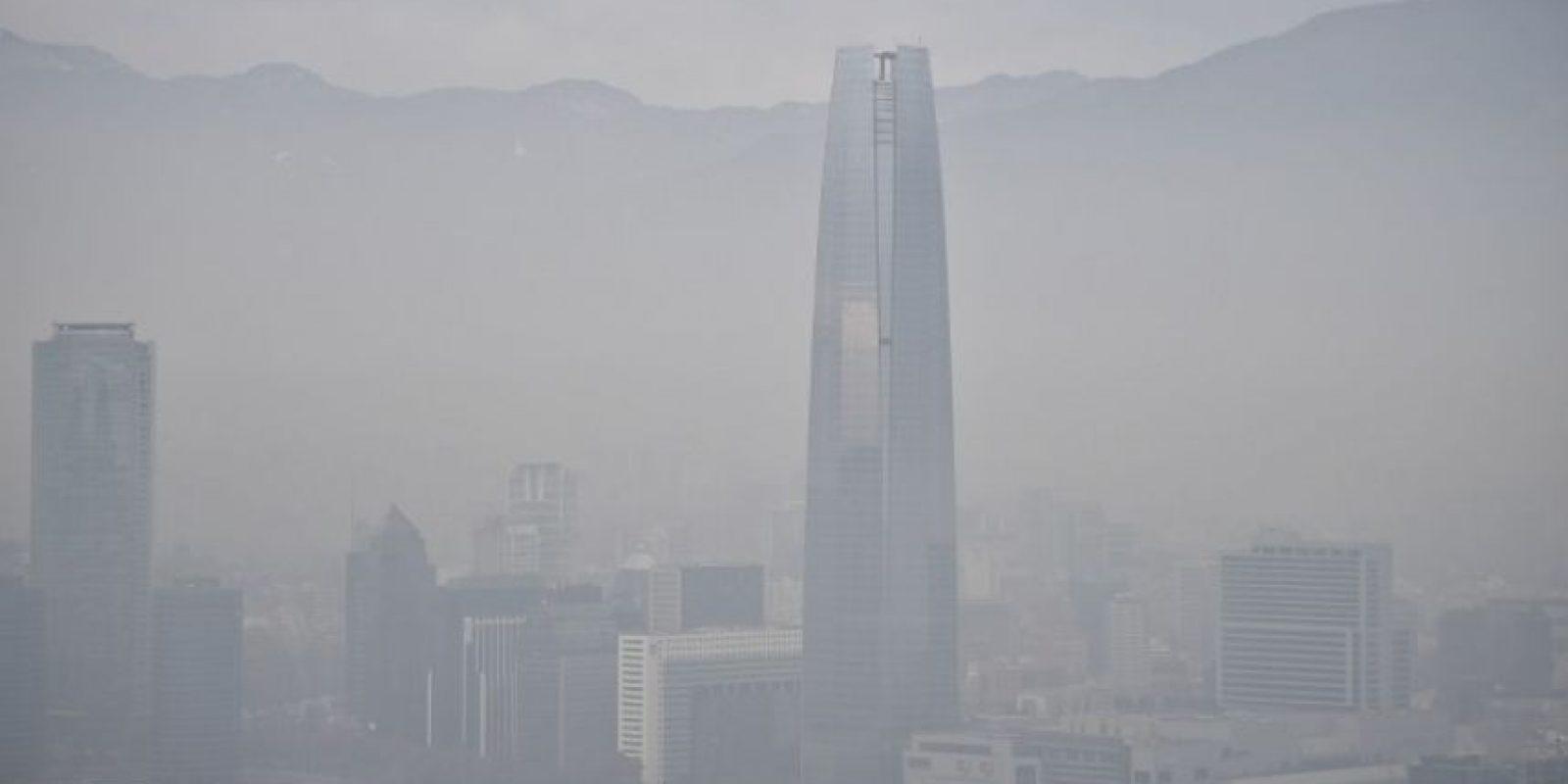 Así amaneció Santiago el 22 de junio Foto:AFP