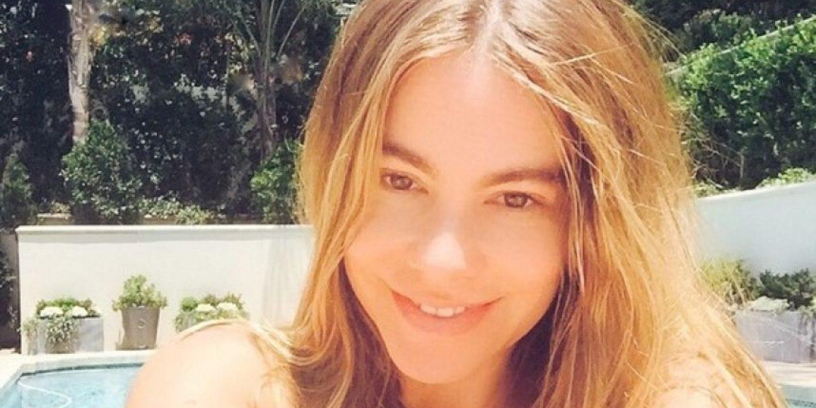 La actriz colombiana presumió su cara lavada en Instagram. Foto:Instagram/SofiaVergara