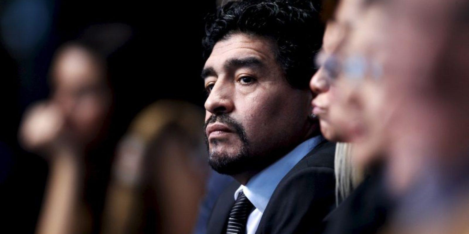 Diego Maradona estuvo involucrado en el pasado proceso para elegir presidente de la FIFA. Foto:Getty Images
