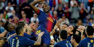 En mayo de 2013, Abidal anunció su salida del Barcelona pues no se consideraba con la capacidad de mantenerse jugando al máximo nivel. Foto:Getty Images