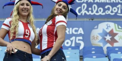 Las bellas chicas guaraníes deslumbraron Foto: AFP