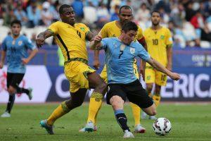 Jamaica perdió sus tres duelos en la Copa América: 1-0 frente a Uruguay. Foto:Getty Images