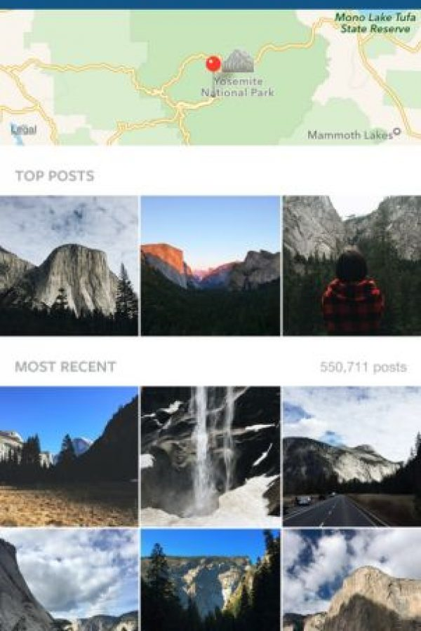 Búsquedas de lugares con mapa, mejores resultados y más recientes. Foto:Instagram