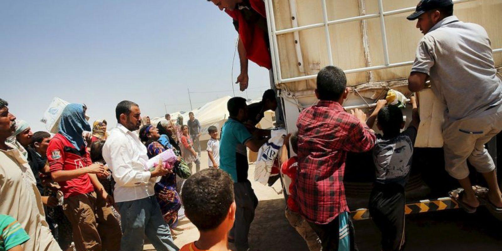 3. Miles de refugiados han luchado por llegar a un lugar seguro, esto tras los ataques de ISIS. Foto:Getty Images