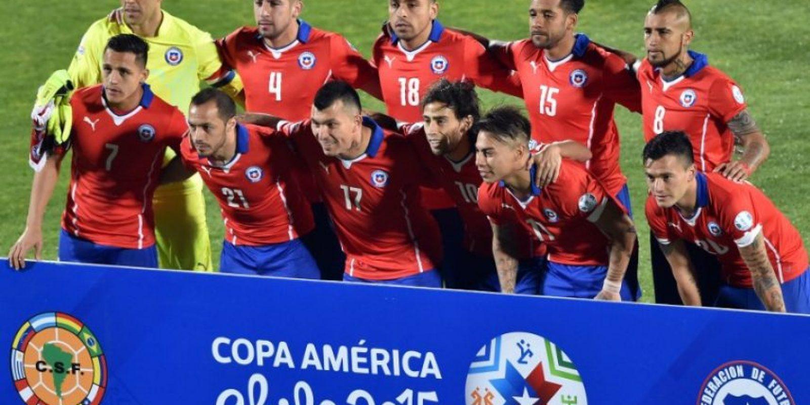"La ""Roja"" Foto:AFP"