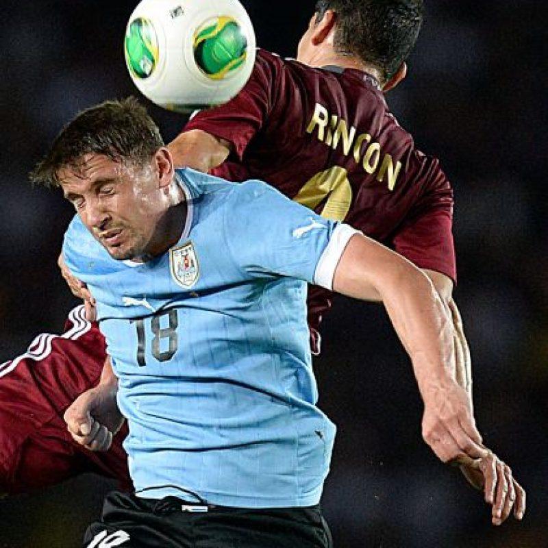 En 2007, Uruguay goleó 4-1 a Venezuela en cuartos de final. Foto:AFP