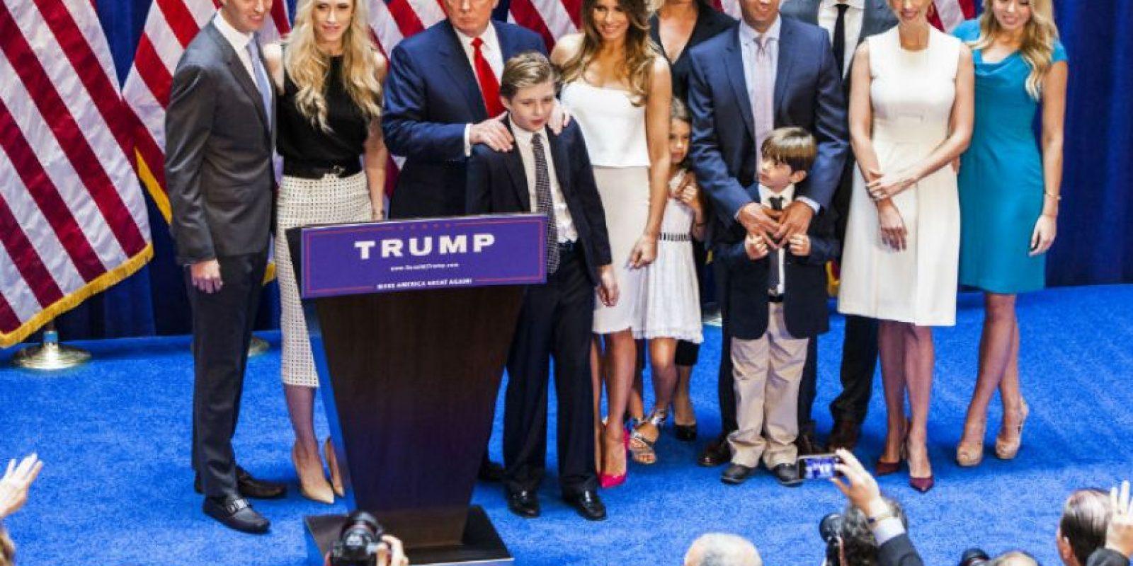 Esto después de acompañar a su papá a la presentación oficial de su campaña. Foto:Getty Images