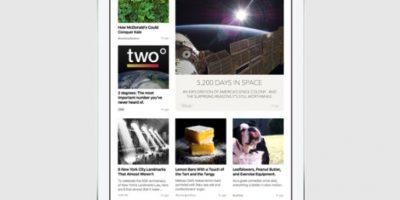 Con una interfaz exclusiva para el contenido escrito, fotos y video Foto:Apple