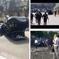 Los destrozos hechos por manifestantes. Foto:instagram.com/rbc137