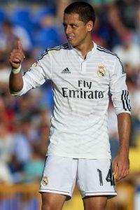 """Y también del mexicano Javier """"Chicharito"""" Hernández: """"Mi ídolo es Ronaldo, el 'Fenómeno'. Ojalá algún día pueda hacerme una foto con él"""". Foto:Getty Images"""