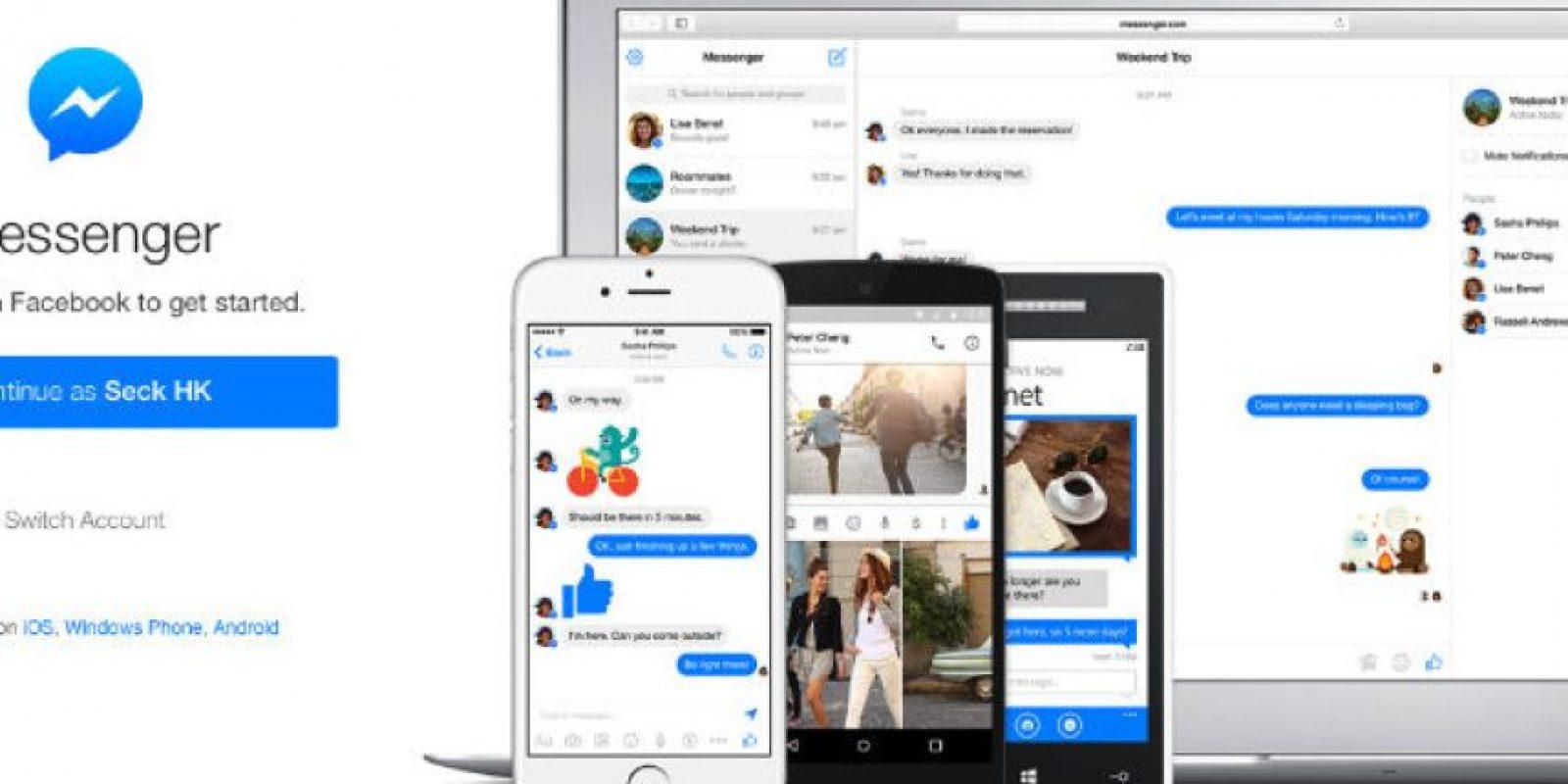 Recuerden que ya pueden ingresar a esta app desde su computadora con el cliente web de Messenger Foto:Facebook