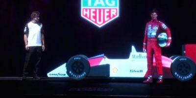 En el deporte, esta método se utilizó para juntar a Fernando Alonso, piloto de la Fórmula 1, con Ayrton Senna Foto:New Feed