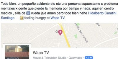 A pesar de lo sucedido continuó compartiendo cosas en las redes. Foto:Vía facebook.com/hidalberto