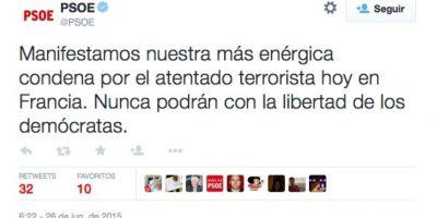 Partido Socialista Obrero Español Foto:Twitter.com