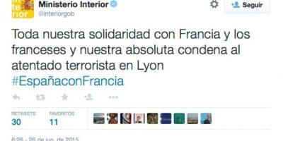 Ministerio del Interior de España Foto:Twitter.com