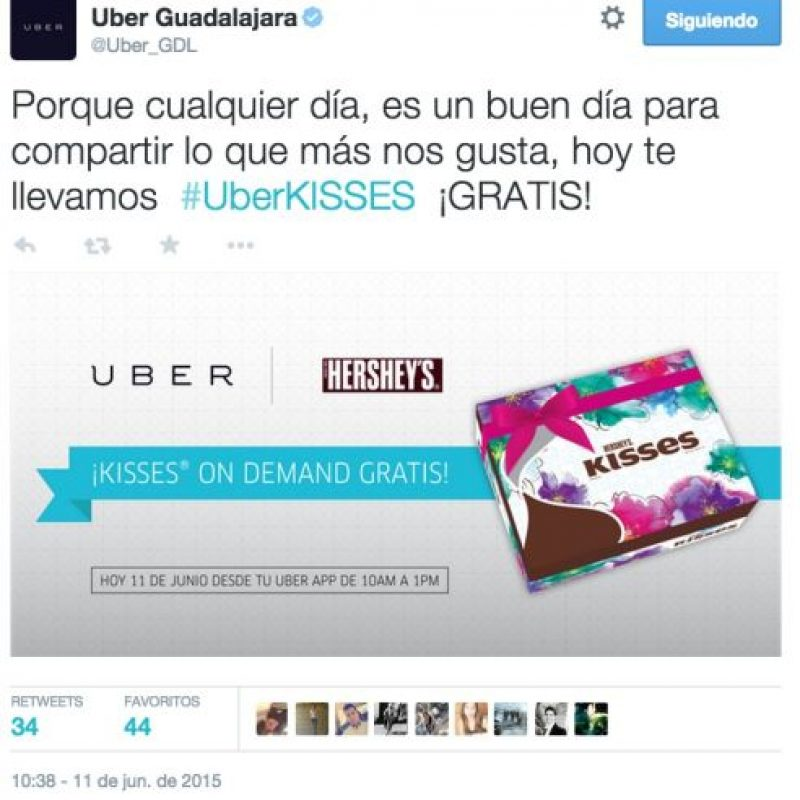 9) Chocolates gratis. Foto:Uber