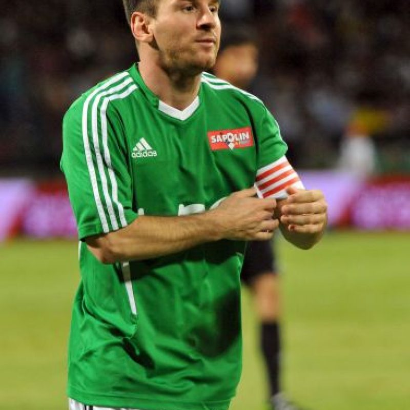 La estrella del Barcelona era capitán de su escuadra. Foto:Getty Images